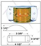 "119A 4-1/2"" x 2-3/16"" x 1-1/4"" Amber Clearance/Marker Light"