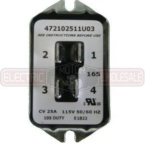 002785.02 LEESON 115VAC 25A SOLID STATE SINPAC SWITCH