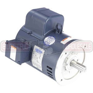 5HP LEESON 1740RPM 184TC DP 1PH MOTOR 131539.00
