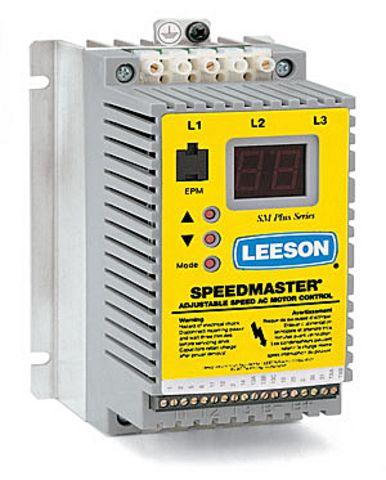 Leeson 174004 3hp sm vector vfd 200 240v 1 3ph input for Vfd for 3hp motor