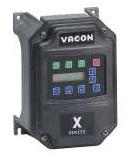 VACON 1/2HP X5C20010C09 X5 VFD 200-230VAC 3PH DRIVE
