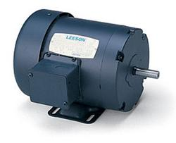 1HP LEESON 3450RPM 56 TEFC 3PH MOTOR 110145