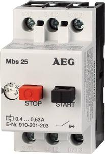 MBS25-G AEG 1.0-1.6A 3-POLE Manual Motor Starter 910-201-205