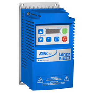 1HP LENZE SMVECTOR VFD 115/240VAC 1PH INPUT ESV751N01SXB