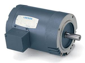 1/2HP LEESON 3450RPM 56C TENV 3PH MOTOR 110144