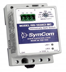 SymCom ISS-102ACI-MC 2-Ch Intrinsically-Safe Switch