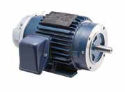 1HP LEESON 1800RPM 56C TEFC 3PH BRAKE MOTOR 117700