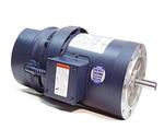 1HP LEESON 1725RPM 143TC TEFC 3PH BRAKE MOTOR 121556