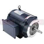 10HP LEESON 3450RPM 215JM TEFC 1PH MOTOR 141282.00