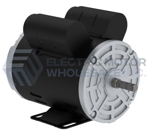 General Purpose Motor 56H Frame 1PH 110-120V,208V,230V Open Weg Electric 00218OT1B56-S Foot Mount Standard Flange 2HP 1800 RPM