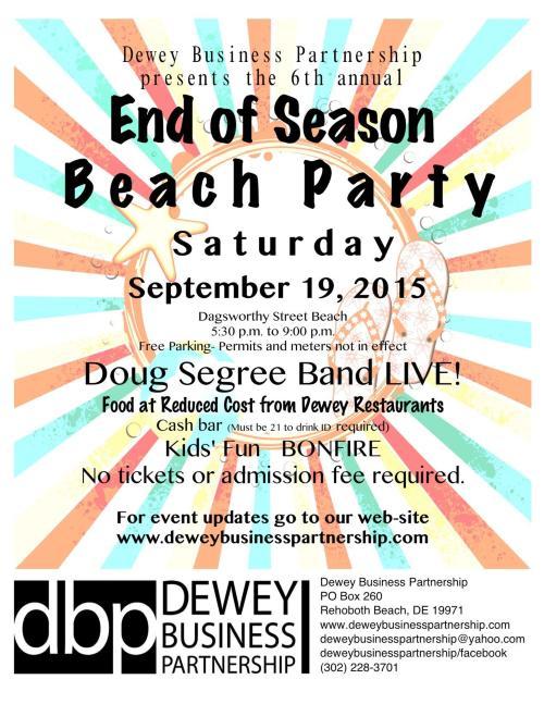 End of Season Beach Party