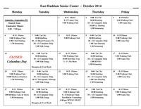 October 2014 Activities Calendar