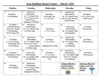 March 2015 Activities
