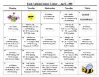 April Activities Calendar