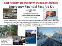 Emergency Financial First Aid Kit Flyer