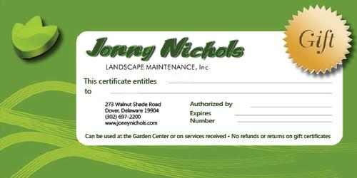 JNLM Gift Certificate