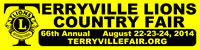 Terryville 66th Annual Country Fair banner