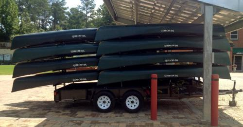16 canoe trailer with lockable storage