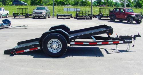 7,000lb tilting scissor lift trailer