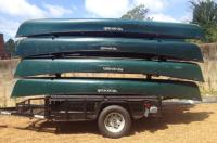 8 canoe trailer with lockable storage