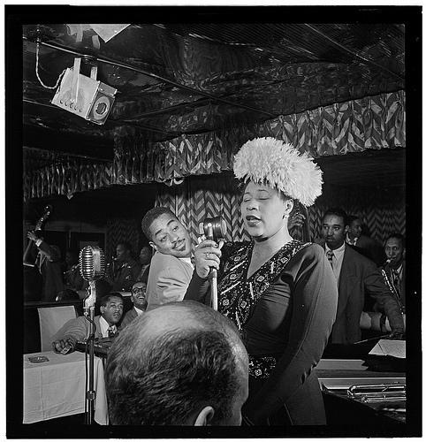[Portrait of Ella Fitzgerald, Dizzy Gillespie, Ray Brown, Milt (