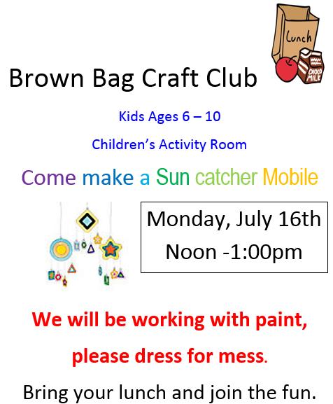 Kids Ages 6 10 Brown Bag Craft Club
