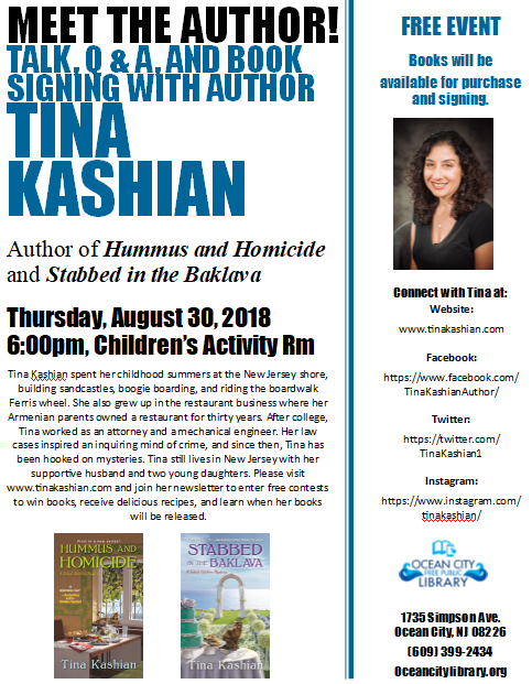 Meet the Author! Tina Kashian (Talk, Q & A, Signing)