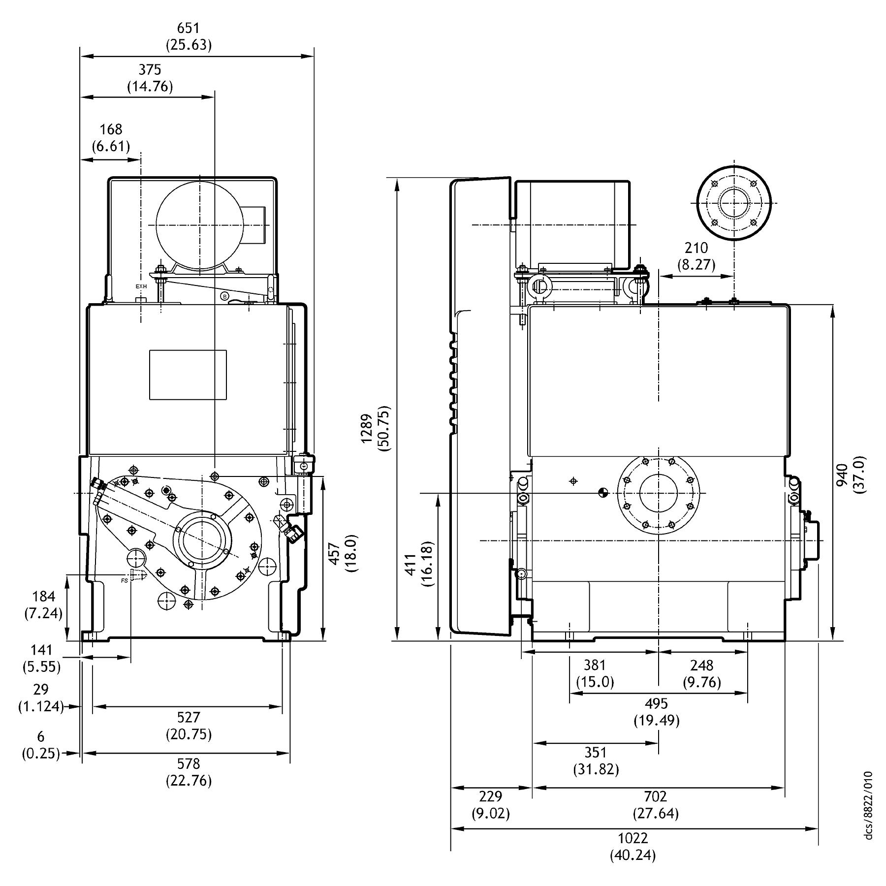 Edwards Stokes 412J Microvac Rotary Piston Vacuum Pump - NEW