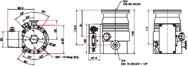 Pfeiffer Vacuum HiPace 60 P