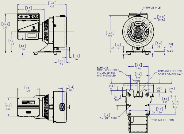 Agilent Varian TriScroll PTS300 Inverter