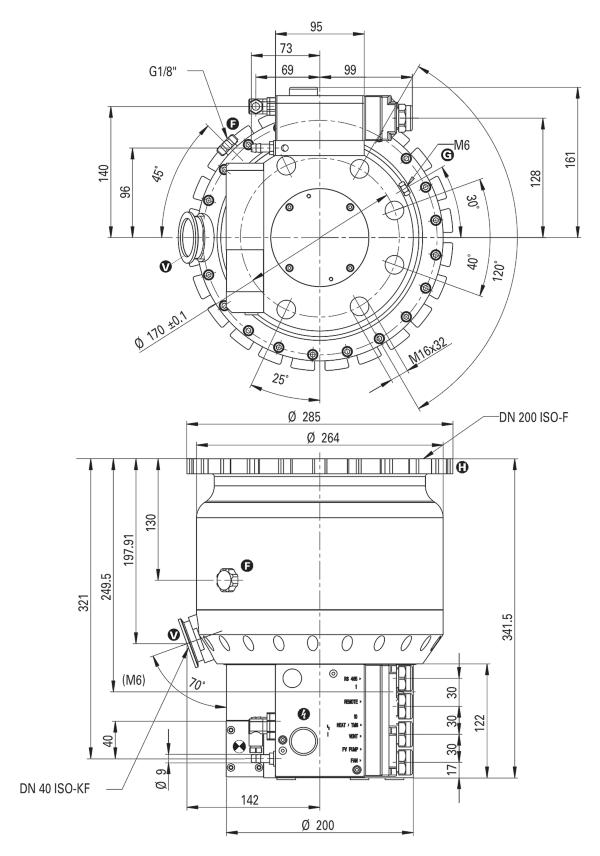 Pfeiffer Vacuum TPH 1201 P C