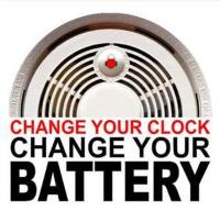 November 1, 2015, Daylight Savings Time Ends: Change your batteries in your smoke detectors when you