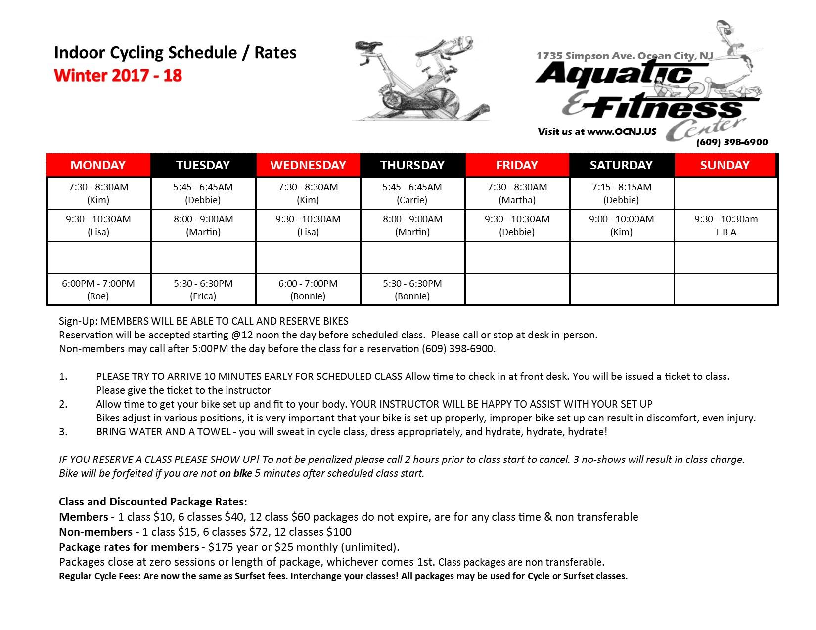 Aquatic fitness center faq click here for winter sunday cycle instructor list xflitez Gallery