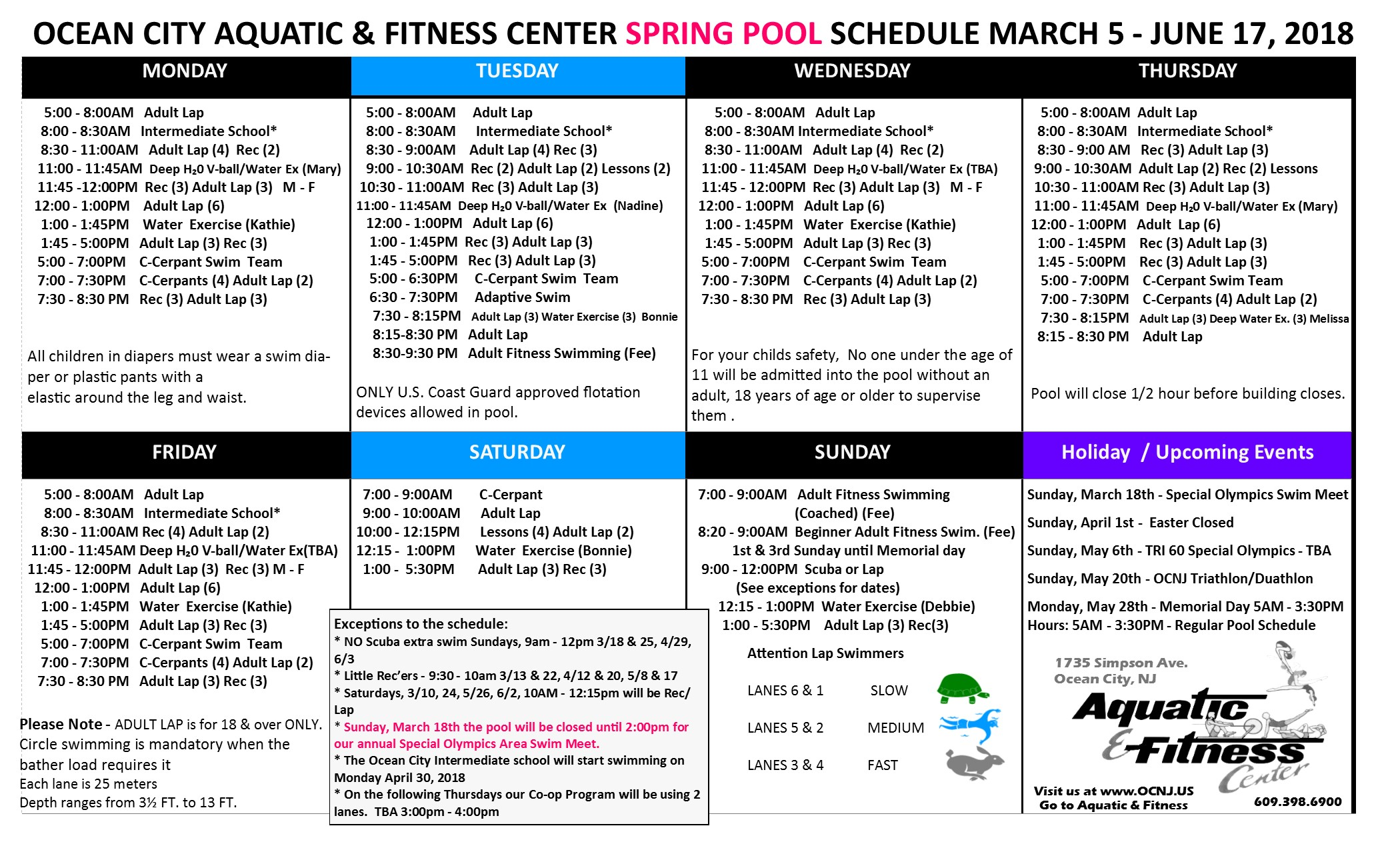 Tide chart for ocean city nj gallery free any chart examples aquatic and fitness center spring pool schedule nvjuhfo gallery nvjuhfo Choice Image