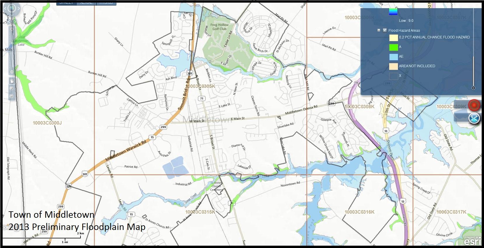 middletown floodplain ( map). floodplain information
