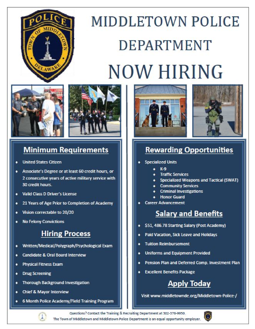 MPD Now Hiring
