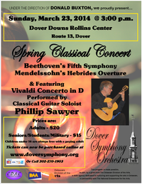 Flyer for March 2014 Spring Classical Concert