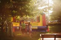 Kid's bounce houses will be at every concert.