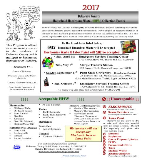 Household Hazardous Waste Events