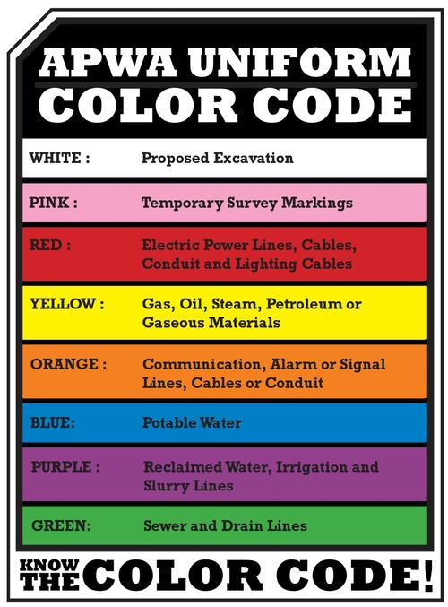 Color Code For Utility Marking 28 Images News Page 5
