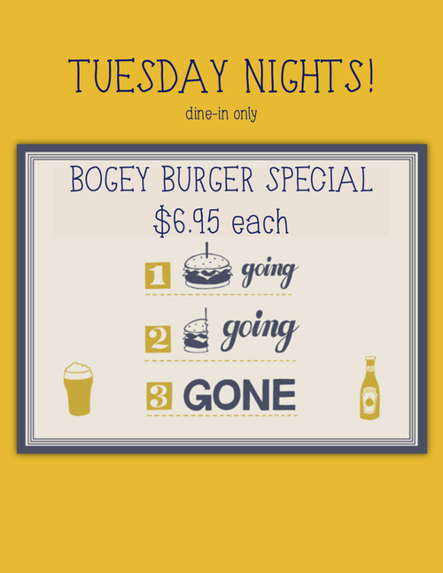 Bogey Burger Night