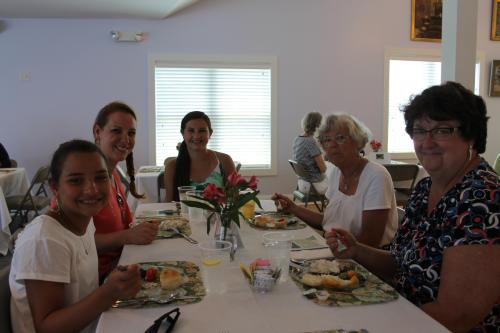 Enjoying the Cottage Tour Luncheon