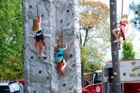 Fun on the rock wall!