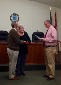 Swearing in of Council Member Thomas A. Maly 2/23/16