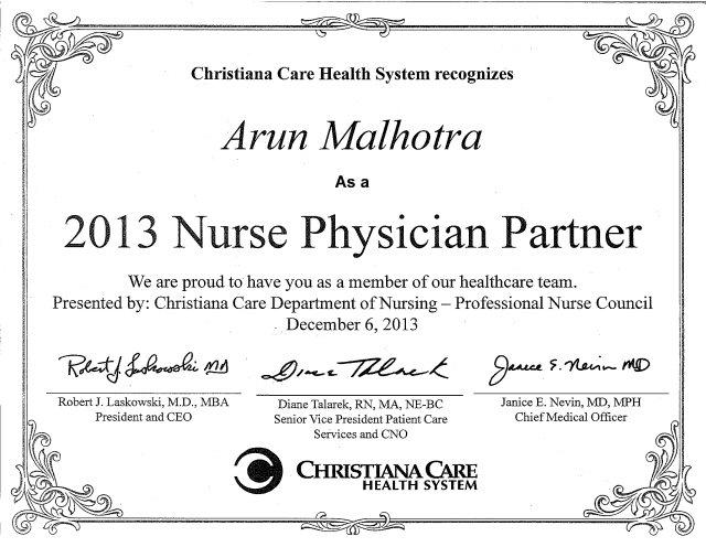 Malhotra Certificate