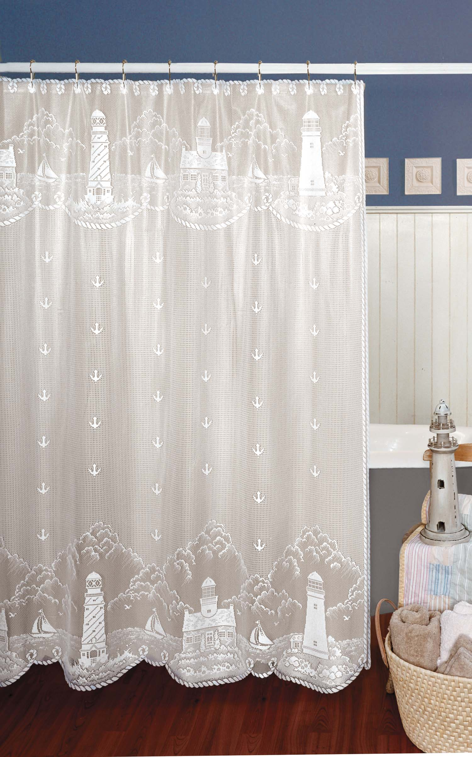 Lighthouse Curtain Shower Curtain
